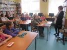 Spotkanie dzieci SP z Trzcińska z autorką literatury dziecięcej Anną Czerwińską-Rydel